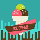 Ice cream background Royalty Free Stock Photography