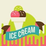 Ice cream background Royalty Free Stock Photo