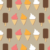 Ice cream background, vector illustration Stock Photography