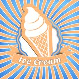 Ice cream background Royalty Free Stock Photo