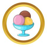 Ice cream balls vector icon Royalty Free Stock Photos
