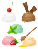 Ice cream balls vector illustration Stock Photo