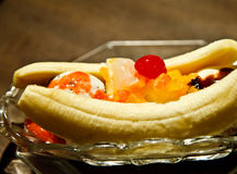 Ice cream banana. In Thailand Royalty Free Stock Image