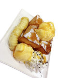 ICE CREAM bananas bread Stock Photo