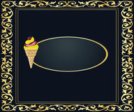 Ice cream banner. Cover to be used for business, messages, communications Stock Images