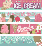 Ice Cream Banners. Four type of Ice Cream Banners Royalty Free Stock Image