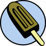 Ice cream bar. Illustration of a chocolate flavored ice cream bar Royalty Free Stock Photos