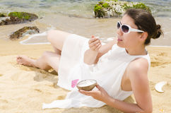 Ice Cream on Beach Stock Photos
