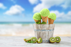 Ice Cream At The Beach Royalty Free Stock Photos