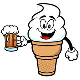Ice Cream with Beer Stock Photography