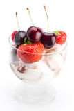 Ice cream and berries Stock Photography