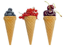 Ice cream berries fruits concept Stock Image