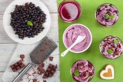Ice cream berry dessert on table Royalty Free Stock Photo