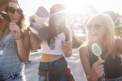 Ice cream is the best in summer time Royalty Free Stock Image