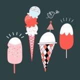 Ice cream and bird Stock Photography