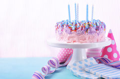 Ice Cream Birthday Cake Stock Photo