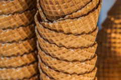 Ice-cream biscuit cups in a stock 4 Stock Photography
