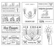 Ice Cream 4 black Stock Photos