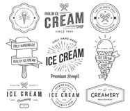 Ice Cream 2 black Stock Images