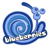 Ice cream blueberries royalty free illustration