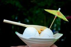 Ice cream on the boat Stock Photo
