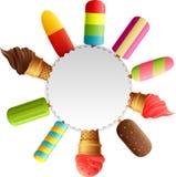 Ice cream border vector illustration