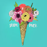 Ice Cream Bouquet Royalty Free Stock Images