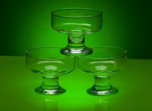 Ice-cream bowl glass Royalty Free Stock Photography