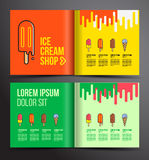 Ice cream brochure design. Royalty Free Stock Images