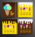 Ice cream brochure design. Stock Photo