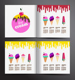Ice cream brochure design. Royalty Free Stock Photography