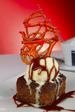 Ice-cream and Brownie Dessert Royalty Free Stock Photography