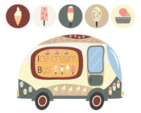 Ice cream bus Royalty Free Stock Photography