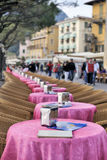 Ice cream cafe on Lake Garda, Italy Stock Image