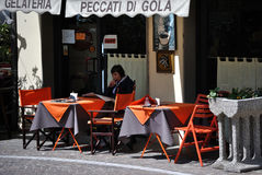 Ice cream cafe on Monza, Italy Royalty Free Stock Photos