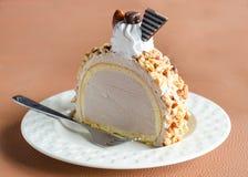Ice cream cake almonds Royalty Free Stock Photos