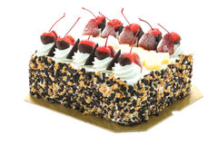 Ice cream cake with cherry on top Royalty Free Stock Image