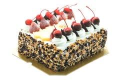 Ice cream cake with cherry on top Stock Photos
