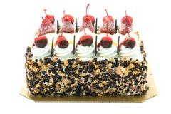 Ice cream cake with cherry on top Royalty Free Stock Photos