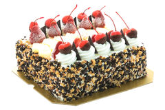 Ice cream cake with cherry on top Royalty Free Stock Images