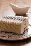 Ice cream cake with chocolate Stock Photos