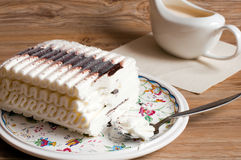 Ice cream cake with chocolate Royalty Free Stock Images
