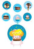 Ice cream and cake icons Stock Image