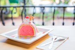 Ice cream cake the taste strawberry royalty free stock images