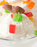 Ice cream with candied fruit Royalty Free Stock Image