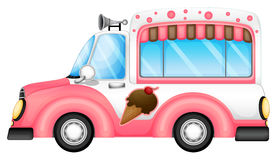 An ice cream car. Illustration of an ice cream car on a white background Stock Photography