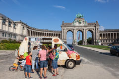 Ice cream car in Brussels Stock Image