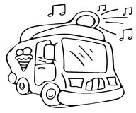 Ice cream car coloring pages Stock Photo