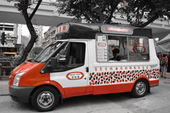 Ice Cream Car In Hong Kong Stock Images