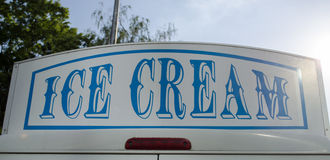 Ice cream car sign Stock Photos